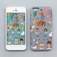 <avex mu-mo> VERY VERY UNIQUE SNAP CASE for iPhone 5/5s画像