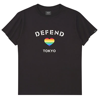 DEFEND PARIS×ayumi hamasaki Tee BLACK