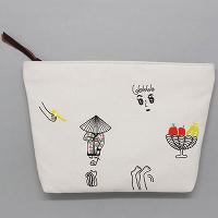 <avex mu-mo> EMBROIDERY CLUTCH BAG_OATMEAL画像