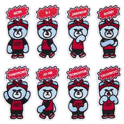 KRUNK×iKON刺繍ステッカー(全8種/ランダム)