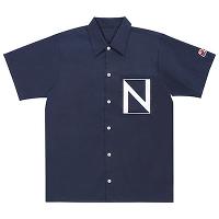 <avex mu-mo> もっとTeamNissyに染まってみない!?〜Nissyスーツカラーに染めたというか、そこに寄せながらも着やすい色にしたシャツ〜 ※要するにネイビーシャツです(XL)画像
