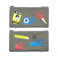 <avex mu-mo> STATIONERY DOUBLE ZIPPER PENCIL CASE画像
