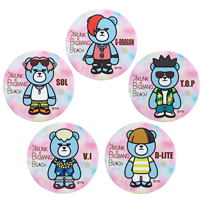 KRUNK X BIGBANG BEACH 缶バッチ(全5種)