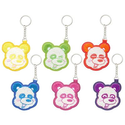 え~パンダ 刺繍キーホルダー(全6種)
