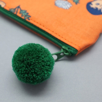 <avex mu-mo> AURORE ORANGE POMPOM PENCIL CASE画像