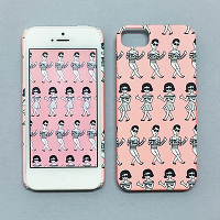 <avex mu-mo> TABOM PINK SNAP CASE for iPhone 5/5s画像
