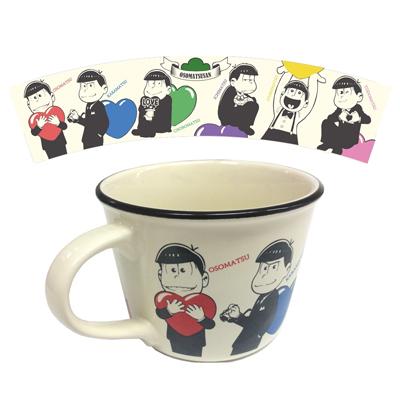 おそ松さん LOVE松さんホーロー風マグカップ