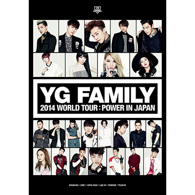 YG FAMILY WORLD TOUR 2014 -POWER- in Japan(3枚組DVD)