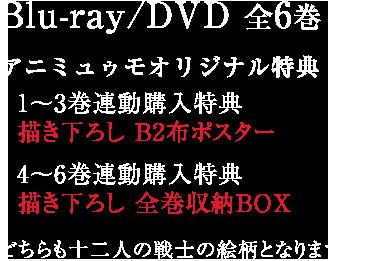 Blu-ray/DVD 全6巻