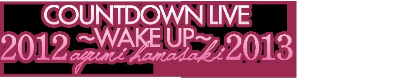 COUNTDOWN LIVE 2012 ~WAKE UP~ ayumi hamasaki 2013 2013.4.8 RELEASE!!