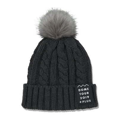 ファー付きニット帽