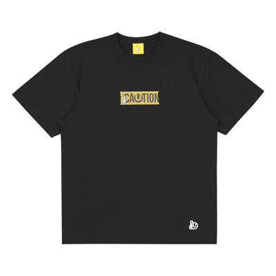 ULTRA JAPAN × #FR2 CAUTION  Tシャツ・BLACK(L)