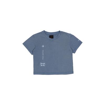 [H.Y.L.T] BLACKPINK CROPPED T-SHIRTS BLUE M