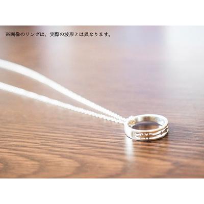 「魔法使いと黒猫のウィズ」鶴音リレイのEncodeRing(セットチェーン付き)Men:L (18号)/chain:50cm