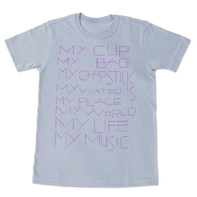 my commmons t-shirts(パウダーグレイ)