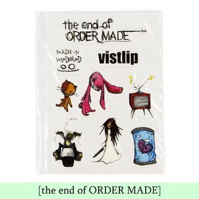 Vistlipステッカー 印刷物 The End Of Order Made