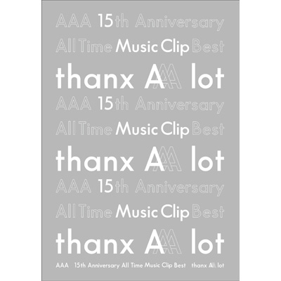 AAA 15th Anniversary All Time Music Clip Best -thanx AAA lot-(3枚組DVD)