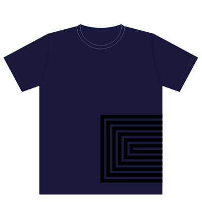 commmonsロゴTシャツ 濃紺