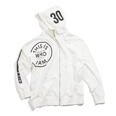 HIGH NECK ZIP UP HOODIE