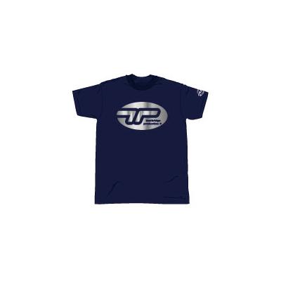 シルバーロゴTシャツ・ネイビー