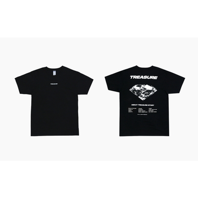 [TREASURE MAP] TREASURE T-SHIRTS TYPE 1 BLACK