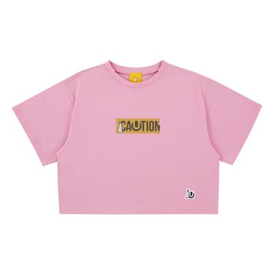 ULTRA JAPAN × #FR2 CAUTION ショートTシャツ・PINK(レディース)