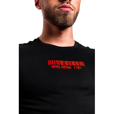 PRTCL-CPSL T-shirt -red on Black(L)