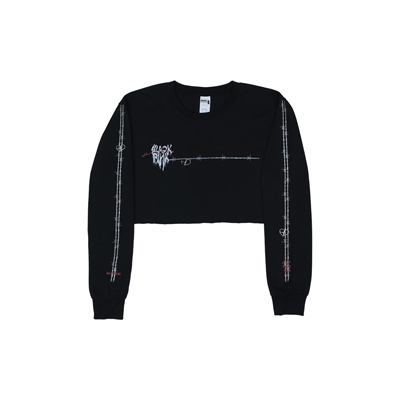 [H.Y.L.T] BLACKPINK LONG SLEEVE T-SHIRTS METING HEART BLACK L