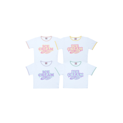 [Ice Cream] BLACKPINK CROPPED T-SHIRTS YELLOW