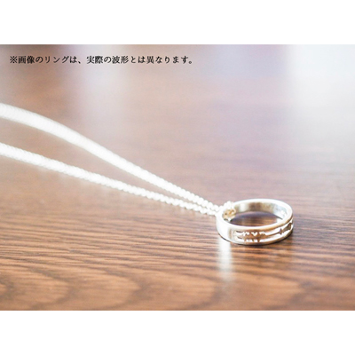 「魔法使いと黒猫のウィズ」鶴音リレイのEncodeRing(セットチェーン付き)Men:S (11号)/chain:40cm