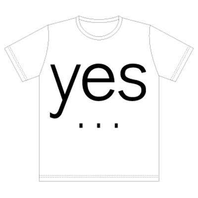 commmons YES/NO T-Shirt 白