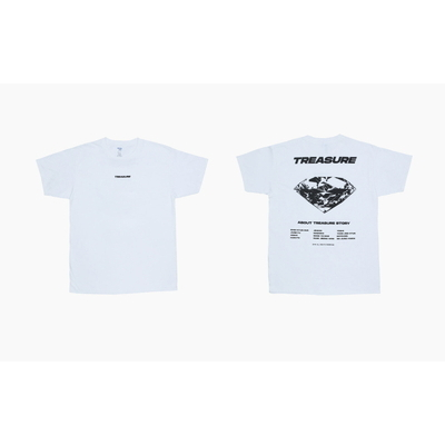 [TREASURE MAP] TREASURE T-SHIRTS TYPE 1 WHITE