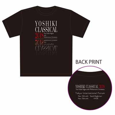 YOSHIKI CLASSICAL 2018 Tシャツ_A