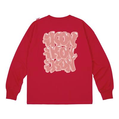 ロングスリーブTシャツ(RED/XL)