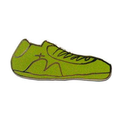 「コルコバードの丘スニーカー」ピンバッチ(黄緑)