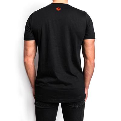 PRTCL-CPSL T-shirt -red on Black(M)