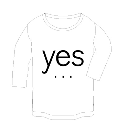commmons YES/NO T-Shirt for Ladys(ラグラン) 白