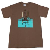 BOREDOMS 111BOADRUM Tシャツ 茶色