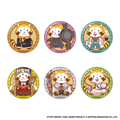 Fate/Rascal Order-絶対魔獣洗線アライグマ- TR缶バッジ 全6種