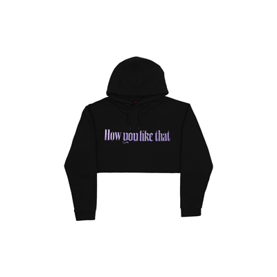 [H.Y.L.T] BLACKPINK CROPPED HOODIE DARK GRAY
