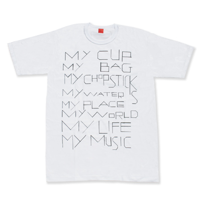 my commmons t-shirts(white)(Sサイズ)