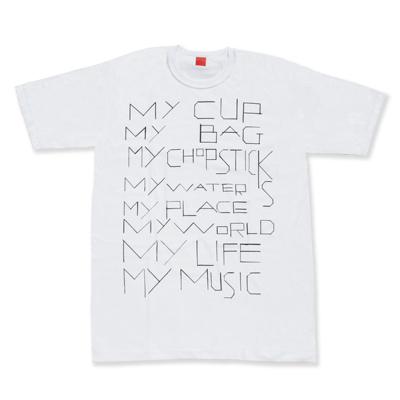 my commmons t-shirts(white)(Sサイズ)