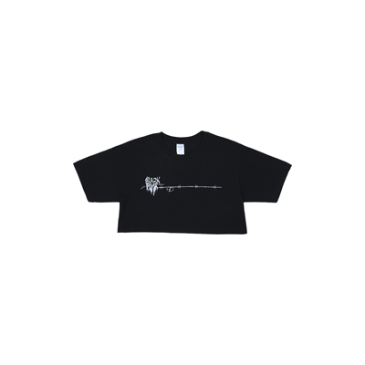 [H.Y.L.T] BLACKPINK CROPPED T-SHIRTS MELTING HEART BLACK