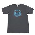 BOREDOMS ヘッドフォン柄 Tシャツ チャコール