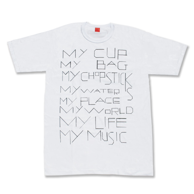 my commmons t-shirts(white)(Mサイズ)