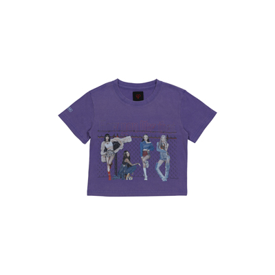 [H.Y.L.T] BLACKPINK CROPPED T-SHIRTS PURPLE S