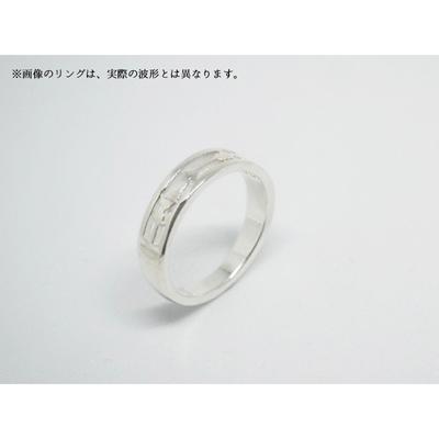 「魔法使いと黒猫のウィズ」鶴音リレイのEncodeRing(セットチェーン付き)Men:M (14号)/chain:50cm