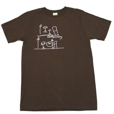 BOREDOMS ドラム柄 Tシャツ 茶色
