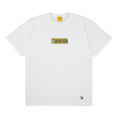 ULTRA JAPAN × #FR2 CAUTION  Tシャツ・WHITE(L)