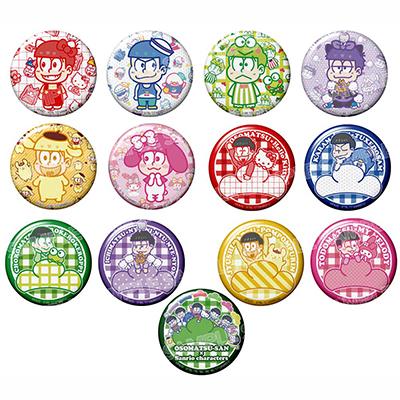 おそ松さん×Sanrio Characters トレーディング缶バッジ(BOX)